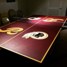 Pub table washington redskins nfl table washington redskins and give your ping pong table a redskins makeover httr watchthetrailerfo