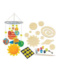 Take a look at this Solar System Mobile Painting Kit today!