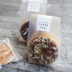 20pcs/lot  Translucent packaging bag plastic bags pouches wrappers cupcake  8.5x23cm