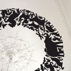 Panthéon Circle Decal Black, $88.40, now featured on Fab.