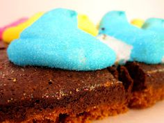 Peep Brownie S'mores - It's Easter! http://cakestacks.blogspot.com/2012/04/peep-brownie-smores.html