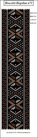 At least 4 colours of beads in this diamond patterned beaded band