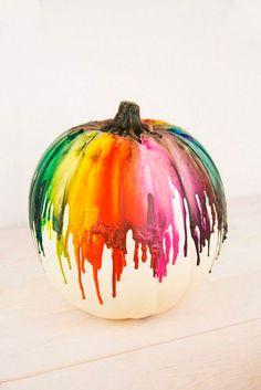 Calabaza DIY con colores flúor