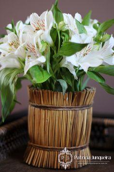 Flores brancas para decorar casa! Por Patrícia Junqueira http://www.patriciajunqueira.com.br