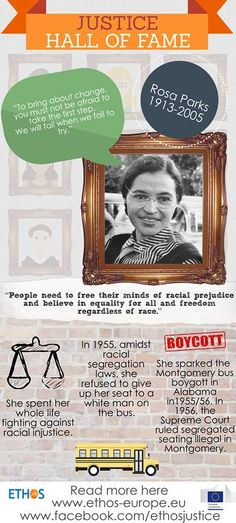 On a day on which we celebrate strong women, let us introduce our next justice hero - Rosa Parks. She sparked the famous Montgomery bus boycott in with her famous act of passive resistance.