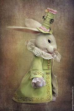 """Teddy doll / Игрушки животные, ручной работы. Ярмарка Мастеров - ручная работа. Купить Игрушка. Белый Кролик из """" Алисы в стране чудес"""" .. Handmade."""