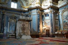 Madrid, Spain - Royal Throne Inside Castle Cathedral