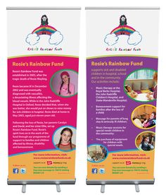 charity pull up banner - Google Search Social Media Marketing, Roller Banners, Charity, Sick, Therapy, Rainbow, Activities, Children, School