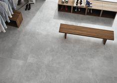 XXL keramische tegel in formaat 120x120 cm met een middengrijze kleur en mat afwerking. Deze betonlooktegel is zacht gewolkt, gerectificeerd voor plaatsing met smalle voeg van 1 mm. Door gebruik te maken van toon-op-toon voegsel kleur geeft deze vloer een echt beton look. Voordeel van deze tegel is dat hij onderhoudsvriendelijke is, kras- & vlekbestendig en zeer duurzaam. Outdoor Furniture, Outdoor Decor, Bench, Home Decor, Environment, Homemade Home Decor, Benches, Interior Design, Home Interiors