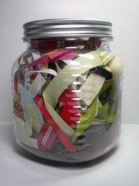 Craft Room Organization - Ribbon Scrap Storage