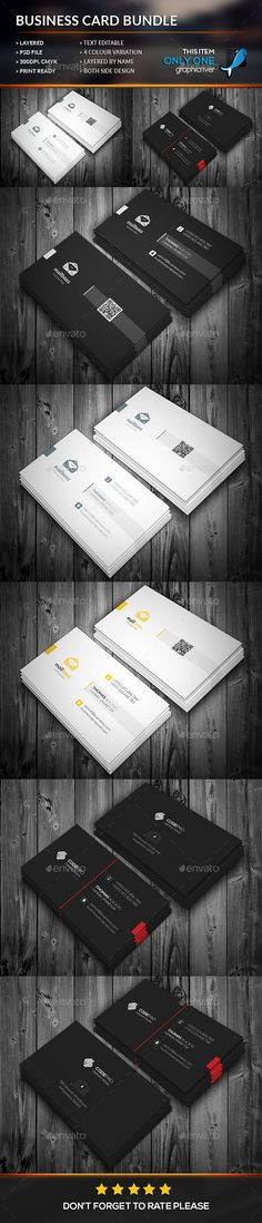 Simply Business Card Bundle Template #design Download: http://graphicriver.net/item/simply-business-card-bundle/12129885?ref=ksioks