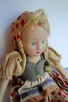 Beautiful vintage Polish doll