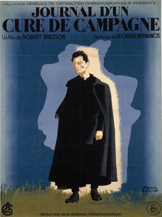 """""""Journal d'un curé de campagne"""" de Robert Bresson, 1950. Paul Colin © ADAGP, Paris 2000"""