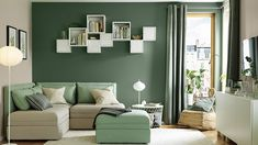 IKEA offers everything from living room furniture to mattresses and bedroom furniture so that you can design your life at home. Check out our furniture and home furnishings! Living Room Green, Paint Colors For Living Room, Small Living Rooms, Living Room Kitchen, Interior Design Living Room, Living Room Designs, Color Interior, Boho Kitchen, Kitchen Decor