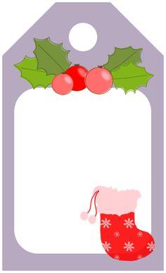 Recursos gratuitos: Etiquetas para regalos de Navidad | Cortar, Coser y Crear