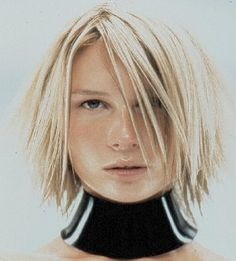 A medium blonde straight hairstyle by TONI