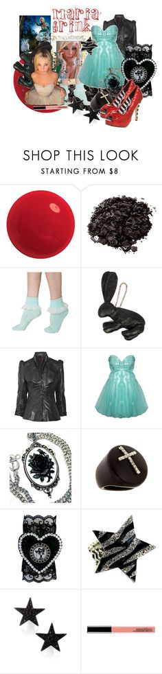 """""""Maria Brink"""" by blujay ❤ liked on Polyvore featuring Essie, Stila, American Apparel, Mandy Coon, Bess, Iron Fist, Fantasy Jewelry Box, Kenneth Jay Lane and Smashbox"""