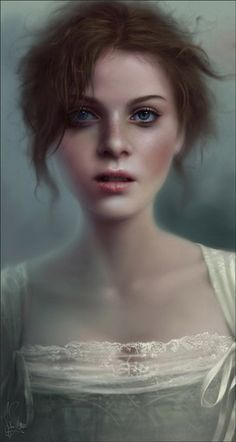 By Melanie Delon ~ love the realism in this one! Fantasy Women, Fantasy Girl, Creative Illustration, Digital Illustration, Melanie Delon, Medieval, Folk, Portraits, Woman Painting