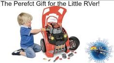 "How many little RVers would love this? This playset features the front end of a car complete with engine under the hood where kids can pretend to change the oil, swap the air filter, check the dipstick, and even remove the spark plugs and various nuts and bolts. They can even turn the ""engine"" on to make sure it works after repairs! http://gizmodo.com/this-playset-teaches-your-kids-how-to-take-care-of-a-re-1630492184/+pgeorge"