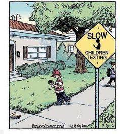 Children Texting - #funny #kids #phones