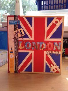 London scrapbook cover (simple stories snap album)