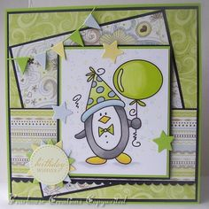 Creations by Bearhouse: DT Card for Fab 'n' Funky Challenge #148 It's our Birthday!!