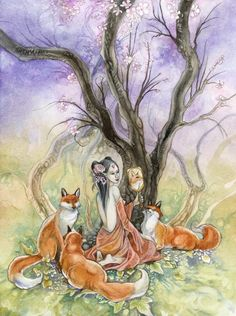 Stephanie Pui-Mun Law. Such beautiful works of art! Not to mention she uses foxes a lot! :)  Check out her work at www.shadowscapes.com or puimun.deviantart.com!
