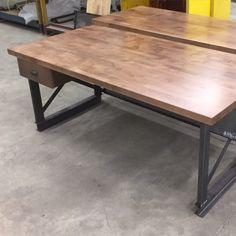 attached single drawer carruca design industrial inspired modern office desk industrialdesk industrialoffice officedesign brooklyn industrial office