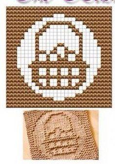 Basket Knit Dish cloths Pattern