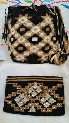 Combinacion de Mochila Wayuu y Cosmetiquera. Desde Riohacha (La Guajira) - +57 3012412266