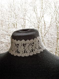 recon'd crochet lace pattern made into a beautiful choker (with PDF tutorial!)