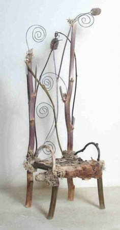 Natural wood backrest Chair fairy