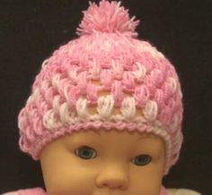 Crochet Geek - Free Instructions and Patterns: Baby Puff Stitch Crochet Hat