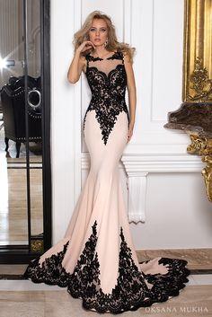 Evening dress 16-1029 http://www.oksana-mukha.com/en/dress/aw2016-2017/16-1029