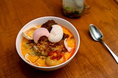 The lontong sayur, or rice cake soup, is made with coconut milk Hungry City: Sky Cafe in Elmhurst, Queens - NYTimes.com
