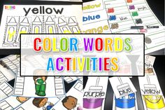Looking for activities to help your class learn their color words? I know these color words activities will be helpful for your class as well.