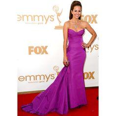 Brooke Burke Purple Strapless Discount Prom Dress 2011 Primetime Emmy Awards Red Carpet