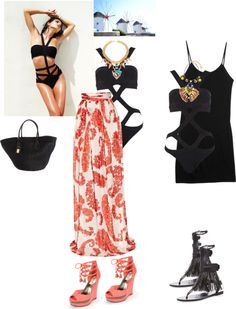"""""""Day to night in Mykonos"""" by elenikastro ❤ liked on Polyvore"""