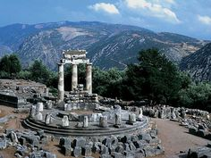 Delphi, Greece...Greeks thought this was the center of the world. It is beautiful.