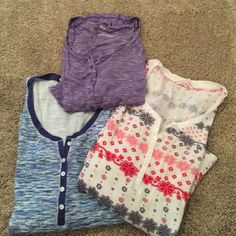 Victoria's Secret Sleep Shirts 3 sleep shirts.  2 Victoria's Secret, 1 Old Navy perfect condition Victoria's Secret Tops Tees - Long Sleeve