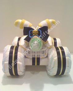 four wheeler diaper cake