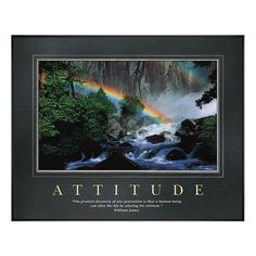 Attitude Rainbow motivational poster image: A dense forest is brought to life by the hopeful glow of a brilliant rainbow. Our Attitude Rainbow motivational poster from our exclusive Corporate Impressions collection enhances the look of offices, confe . !!!