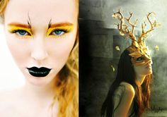 Pop Culture And Fashion Magic: Halloween costumes and makeup ideas, Halloween music too! Fairy Make-up, Evil Fairy, Witch Makeup, Halloween Eye Makeup, Halloween Eyes, Sfx Makeup, Makeup Art, Happy Halloween, Forest Fairy Costume