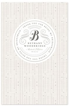minted notebook as a bridesmaid favor