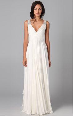 7907ccefd33 A-line Princess Floor-length Sleeveless V-neck Chiffon Dress Greek Style