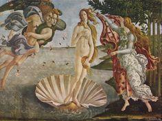 Nascimento de Vênus, de Botticelli.