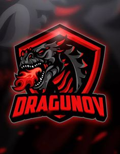 "The post ""Dragunov & Mascot & Esport Logo Template AI, EPS"" appeared first on Pink Unicorn Logo Gaming Logo, Logo Dragon, Sports Team Logos, Game Logo Design, Esports Logo, Computer Icon, E Sport, Retro Logos, Logo Sticker"