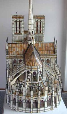 """Unknown artist.  Amazing stained glass """"sculpture.""""  From the Spectrum web site."""