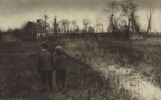 A Toad in the Path - An Early Spring in Norfolk, Peter Henry Emerson. (1856 - 1936)