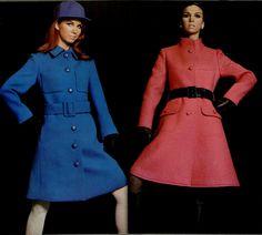 1967 coats Patou and Philippe Venet